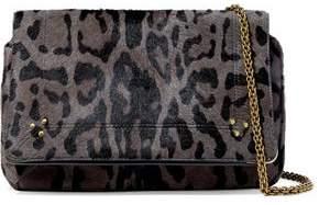 Jerome Dreyfuss Martin Leopard-Print Calf Hair Shoulder Bag