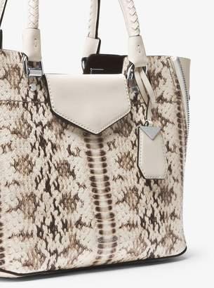 MICHAEL Michael Kors Blakely Snake-Embossed Leather Satchel
