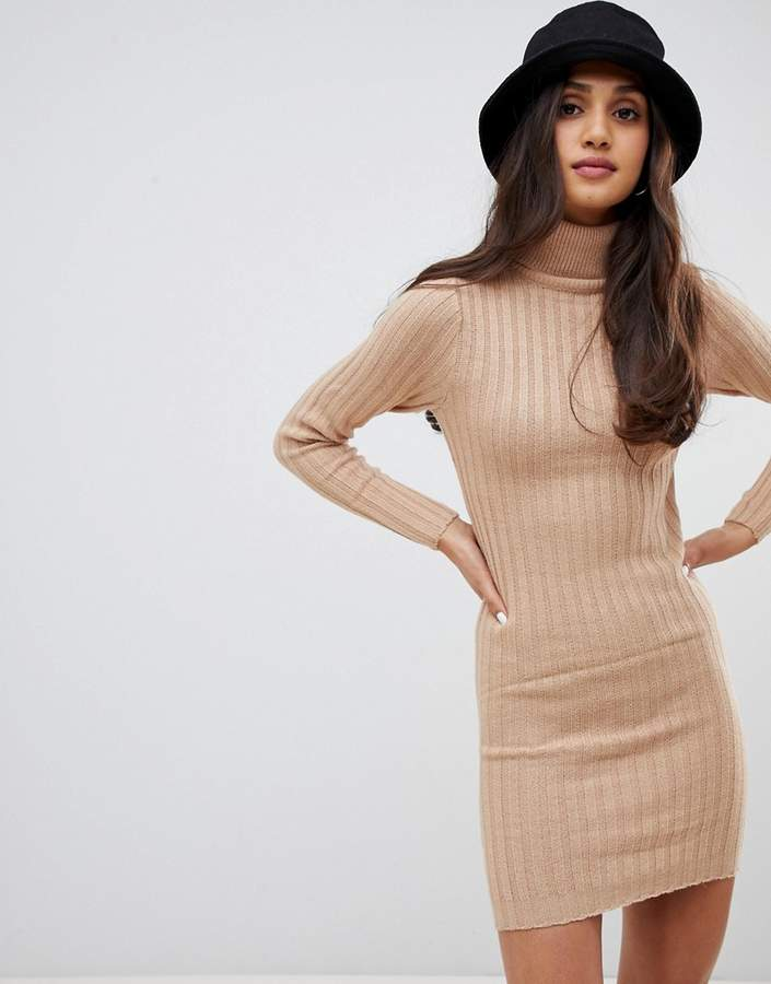amanda roll neck jumper dress