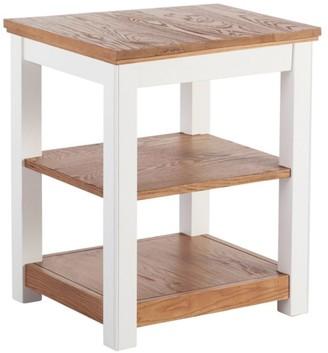 L.L. Bean L.L.Bean Painted Farmhouse Two-Shelf End Table, Wood Top