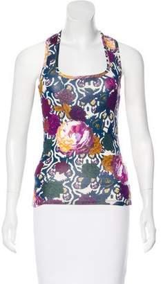 Just Cavalli Sleeveless Floral Top