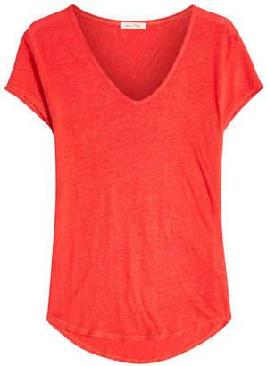 American Vintage Scoop Neck Linen T-Shirt