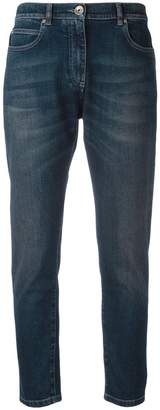 Eleventy stonewashed cropped jeans