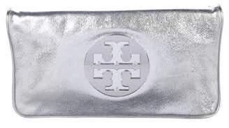 Tory Burch Metallic Riva Clutch