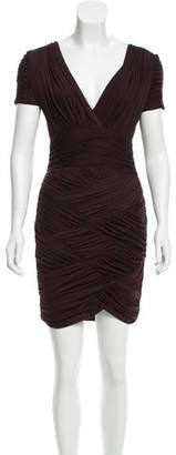 Halston Pleated Bodycon Dress