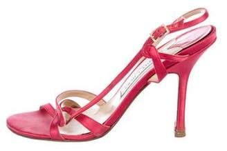 Jimmy Choo Satin Slingback Sandals