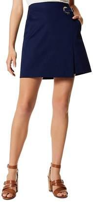 Karen Millen Faux-Wrap Mini Skirt