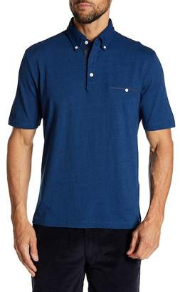 Thomas Dean Garment Dye Short Sleeve Knit Polo
