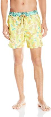 Maaji Men's Lemon Brushstroke Swim Trunk