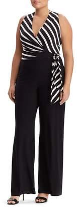 Lauren Ralph Lauren Stripe Sleeveless Jumpsuit
