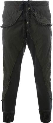 Greg Lauren stripe trim trousers
