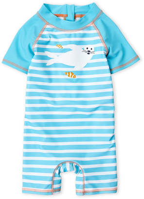 Floatimini Infant Boys) Stripe Seal Rash Guard Romper
