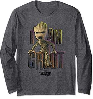 Marvel Guardians Vol.2 I AM GROOT Cute Angry Long Sleeve Tee