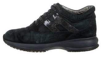 Hogan Suede Sequin Sneakers