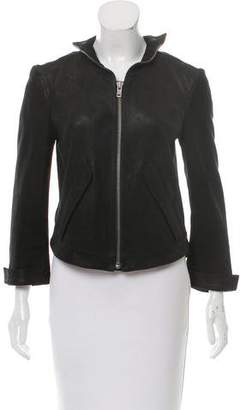 Theyskens' Theory High-Low Leather Jacket