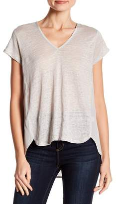 Acrobat V-Neck Short Sleeve Linen Blend Tee