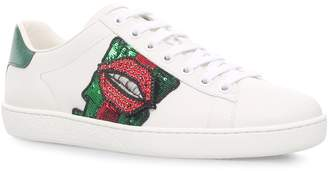 Gucci Lips New Ace Sneakers