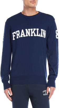 Franklin & Marshall Navy Logo Pullover Sweater