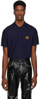 Burberry Navy Archive Logo Densford Polo