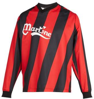 Martine Rose Long Sleeved Twisted Football Shirt - Mens - Red Multi