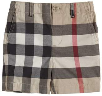 Burberry Check Light Cotton Gabardine Shorts