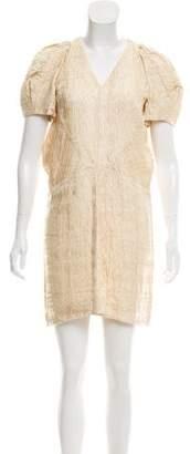 Marni Short Sleeve Brocade Dress