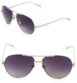 Linda Farrow 59MM Aviator Sunglasses
