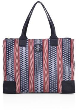 Tory Burch Tory Burch Ella Geometric Printed Tote