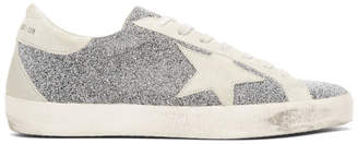 Golden Goose Silver Limited Edition Crystal Galaxy Superstar Sneakers