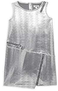 Mia Girl's Metallic Faux Leather Shift Dress