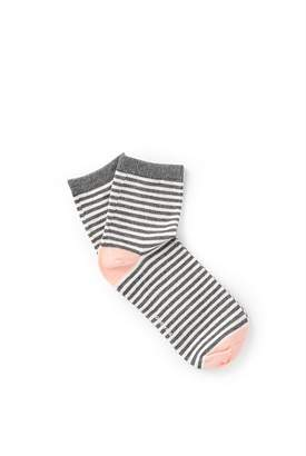 Country Road Stripy Quarter Crew Socks