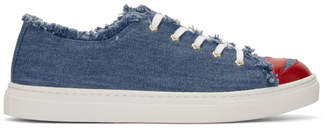 Charlotte Olympia Blue Denim Kiss Me Sneakers