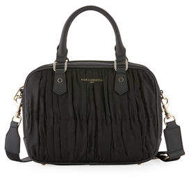 Karl Lagerfeld Paris Kourtney Pleated Nylon Satchel Bag