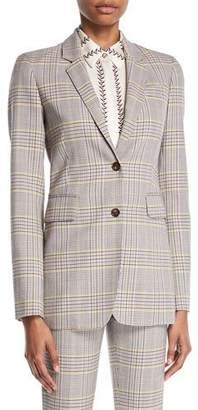 Gabriela Hearst Sophie Single-Breasted Plaid Wool Sportswear Blazer