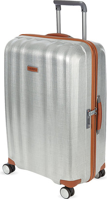 Samsonite Lite-Cube Deluxe four-wheel spinner suitcase 82cm, Aluminium