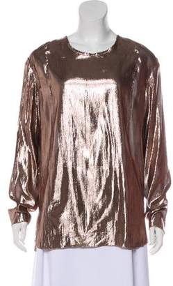 Lanvin Silk-Blend Long Sleeve Top