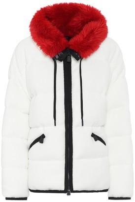 Moncler Faux fur-trimmed ski jacket