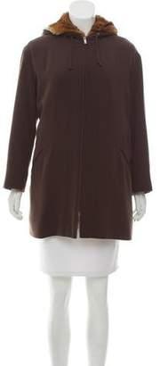 Giorgio Armani Fur-Lined Hooded Coat