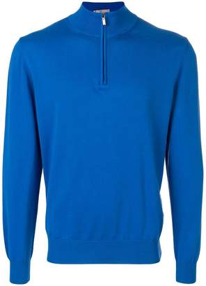Canali zip neck sweater