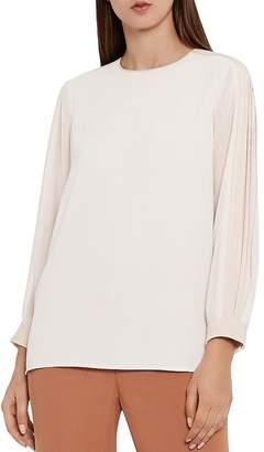 cd73046a7f5857 Reiss Hermina Pleated-Sleeve Blouse