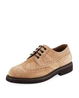 Brunello Cucinelli Men's Brogue Lace-Up Shoes