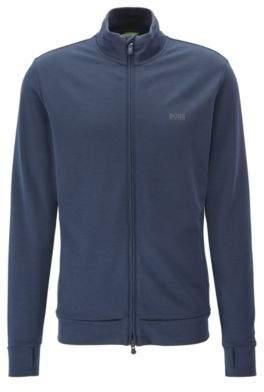 BOSS Hugo Cotton Blend Sweat Jacket SL Tech L Dark Blue