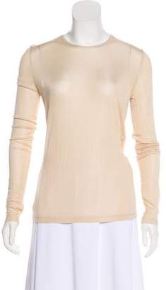 Dion Lee Long Sleeve Semi-Sheer Top w/ Tags