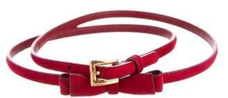 Prada Suede Bow Belt