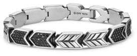 David Yurman Chevron Link Bracelet with Black Diamonds