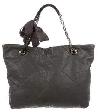Lanvin Quilted Leather Tote