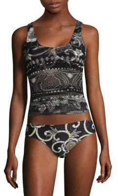 Fuzzi Swim Printed Long Tankini Top