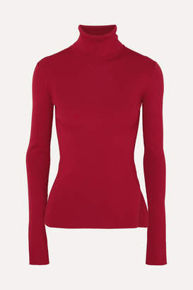 Helmut Lang Ribbed-knit Turtleneck Sweater - Red