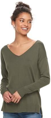 So Juniors' SO High-Low V-Neck Sweater