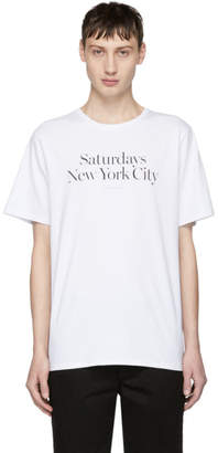 Saturdays NYC White Miller Standard Logo T-Shirt